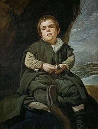 Velázquez - Francisco Lezcano, el Niño de Vallecas (Museo del Prado, 1643-45).jpg
