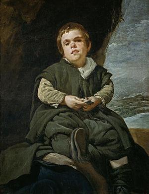 Portrait of Francisco Lezcano - Image: Velázquez Francisco Lezcano, el Niño de Vallecas (Museo del Prado, 1643 45)