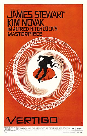 Vertigo (film) - Theatrical release poster by Saul Bass
