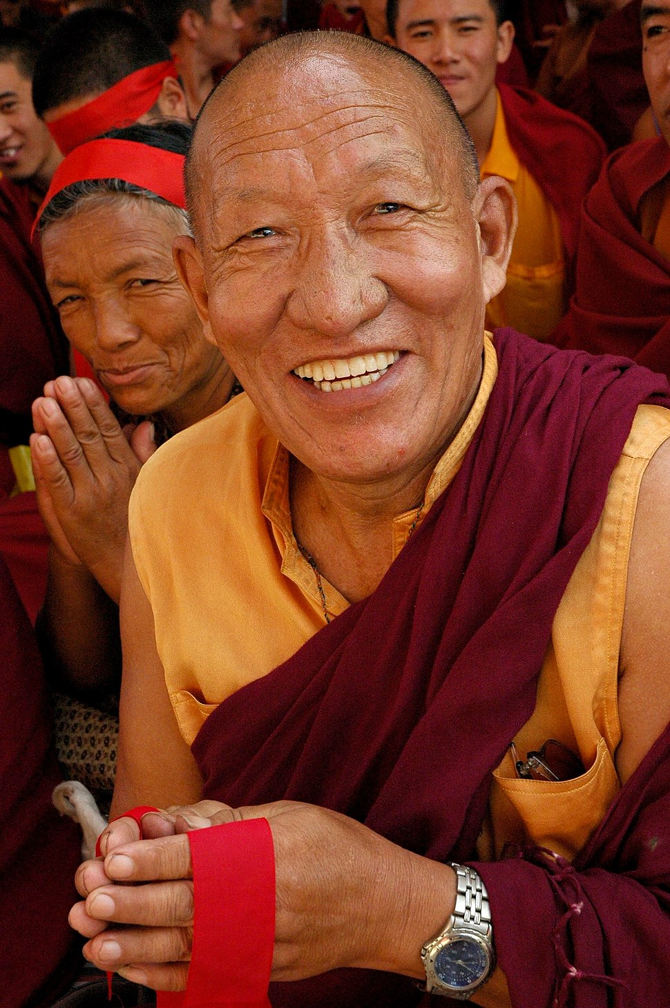 Very happy Tibetan Buddhist Monk