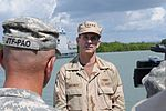 Vice Chief of Naval Operations Adm. Jonathan W. Greenert is interviewed by a Joint Task Force Public Affairs official DVIDS362972.jpg