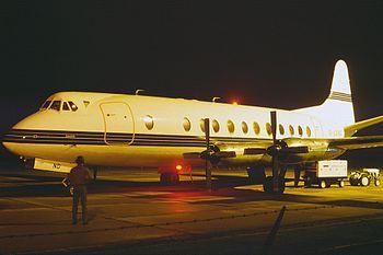Vickers Viscount 806 London European Airways G-LOND, GRQ Groningen (Eelde), Netherlands PP1156842003.jpg