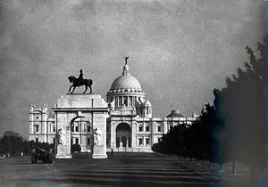 Bengal Presidency - The Victoria Memorial, Kolkata, built in honour of Queen Victoria, Empress of India