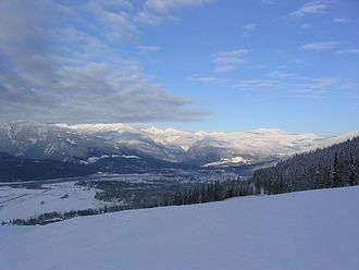 Revelstoke Mountain Resort - Image: View of Columbia Valley and Revelstoke