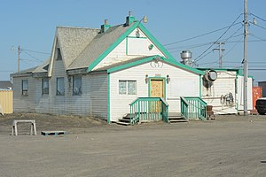 Point Barrow Refuge Station - Image: View from the west Point Barrow Refuge Station, Barrow, Alaska