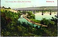 View of James River showing Belt Line Bridge, Richmond, Va. (16629908047).jpg