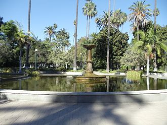 Will Rogers Memorial Park - Image: View of the fountain in the Will Rogers Memorial Park in Beverly Hills, California