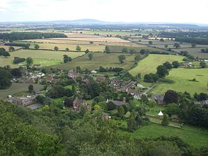 Grinshill - Image: View over Grinshill