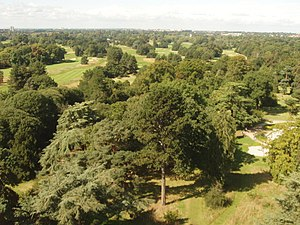 Royal Mid-Surrey Golf Club - View across to Royal Mid-Surrey Golf Course from Kew Gardens Pagoda