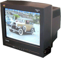 "19"" inch (48.3 cm tube, 45.9 cm viewable) ViewSonic CRT computer monitor."