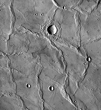 Wrinkle ridge - Image: Viking 418S39 Hesperia