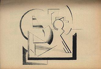 """Viking Eggeling - """"Basse générale de la peinture. Extension"""" Lithography (1919)"""