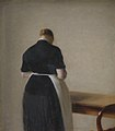 Vilhelm Hammershøi - Woman seen from the Back - KMS3671 - Statens Museum for Kunst.jpg