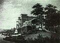 Villa Berg, Ostfassade mit Nymphenbrunnen, 1853.jpg