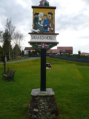 Swanton Morley - Image: Village Sign geograph.org.uk 1244204