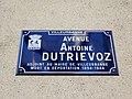 Villeurbanne - Avenue Antoine Dutrievoz - Plaque (mars 2019).jpg