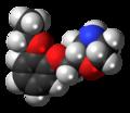 Viloxazine molecule spacefill.png