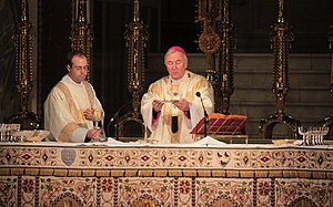 Sacrosanctum concilium - The offering of Mass in Catholic Westminster Cathedral in London, celebrated with the use of the Roman Missal, published following the promulgation of Sacrosanctum concilium