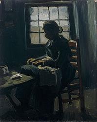 Vincent van Gogh: Woman Sewing