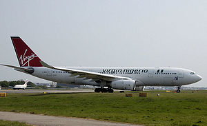Air Nigeria - A Virgin Nigeria Airbus A330-200 at London Gatwick Airport, England that was leased from bmi. (2007)