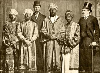 Dreadnought hoax - The Dreadnought hoaxers in Abyssinian costume