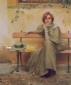 维托里奥·马特奥克拉克斯意大利画家Vittorio Matteo Corcos (Italian, 1859–1933) - 文铮 - 柳州文铮