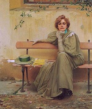 Vittorio Matteo Corcos - Sogni, 1896, Galleria Nazionale d'Arte Moderna, Rome