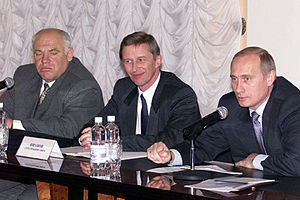 Viktor Kazantsev - Left to right: Viktor Kazantsev, Sergey Ivanov, Vladimir Putin. 8 November 2000