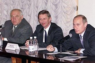 Viktor Kazantsev - Left to right: Viktor Kazantsev, Sergey Ivanov, Vladimir Putin. 8 November 2000
