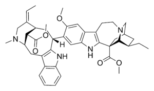 Voacanga africana - Chemical structure of voacamine