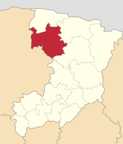 Location of Volodimirecas rajons
