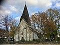 Voss Church (Voss kirke-kyrkje, Vangskyrkja) 13th-c stone church, Voss, Norway 2016-10-25 -03- front.jpg