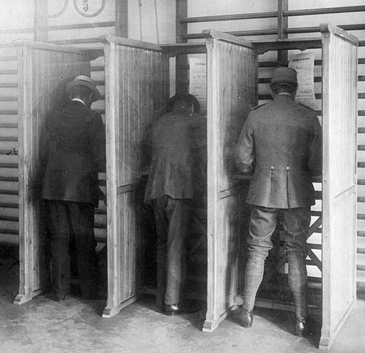 Voting at Dutch elections 1918