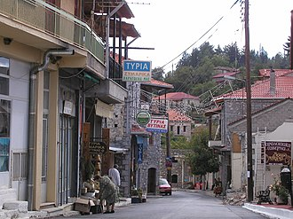 Vytina - View of the central street in Vytina.