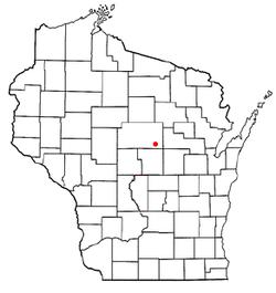 Location of Bevent, Wisconsin