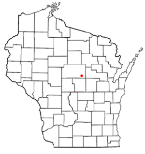 Bevent, Wisconsin - Image: WI Map doton Bevent