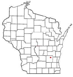 Location of Kekoskee, Wisconsin