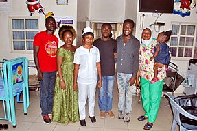 WLA 2017 Photowalk in Ilorin - WLA team with the staff of General Hospital, Ilorin.jpg