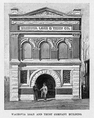 Wachovia Tract - The first Wachovia Loan And Trust Company Building, located in Winston-Salem.