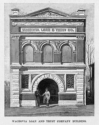 Wachovia - The first Wachovia Loan And Trust Company Building, located in Winston-Salem.