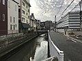 Wajirogawa River from Gimmonbashi Bridge.jpg
