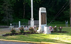 War Monument Park in West Easton.