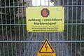 Warnschild Suewag Umspannwerk Grossgartach03082016.JPG