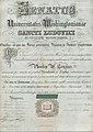 Washington University diploma of Phoebe Couzins, signed President W.G. Eliot et al., May 8, 1871.jpg