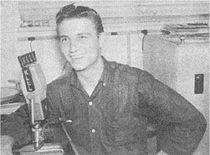 Waylon Jennings - Jennings during a broadcast of his show on KLLL in 1958