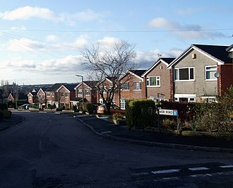 Milnrow - Weir Road is in the north of Milnrow, and has property dating from the town's suburbanisation during the late-20th century.