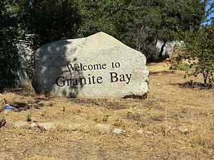 Granite Bay, California - Welcome to Granite Bay sign