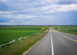 Weld County, Colorado - Cropfields in western Weld County.