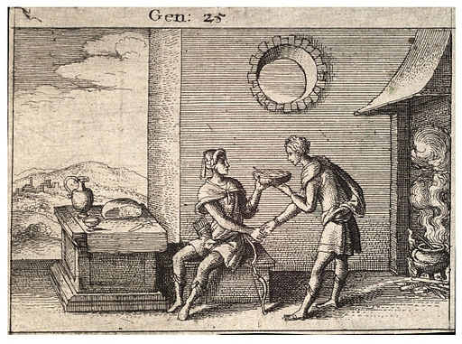 Wenceslas Hollar - The mess of pottage (State 1)