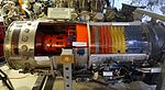 Westinghouse J46-WE-8 axial flow jet engine - Hiller Aviation Museum - San Carlos, California - DSC03061.jpg